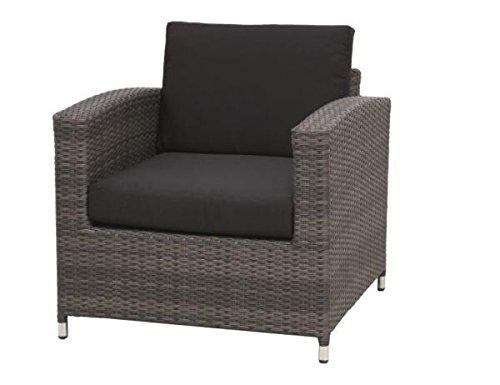 Siena Garden 255185 Lounge Sessel Chicago, aluminium-Gestell, Geflecht grau inklusive Kissen schwarz kaufen