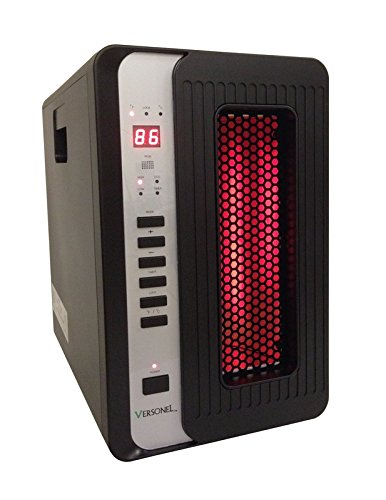 B00GR4TH70 Smart+ Products SPP1500SBH Portable Electric 3-Element Quartz Infrared Heater