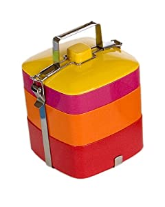 Vivo Square Bento Box, Red/Orange/Pink/Yellow