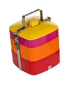 Vivo Square Bento Box, Red/Orange/Pink/Yellow