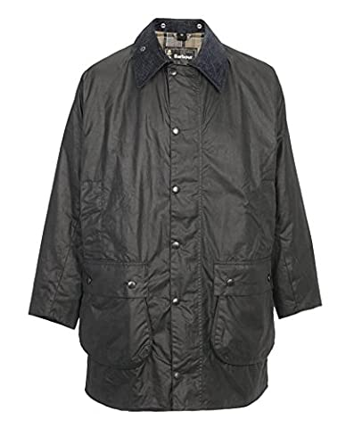 Barbour Men's Border Sage Waxed Cotton Waterproof Jacket (42) - Beaufort Waxed Cotton Jacket