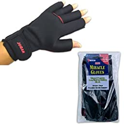 Miracle Gloves - Men\'s Therapy Gloves - (One Pair) Pain Relief from Arthritis Wrist, Carpal Tunnel