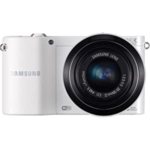 Samsung NX1100 Smart Wi-Fi Digital Camera Body & 20-50mm Lens (White)