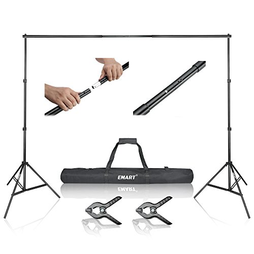 Emart-10ft-Adjustable-Background-Support-Backdrop-Stand-Kit-with-Carry-Bag-and-Clamps-Gifts