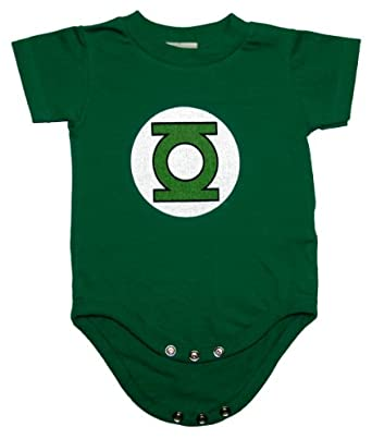Dc Comics Green Lantern Logo Infant Baby Romper Snapsuit (6-12 Months)
