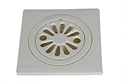 SHRUTI Abs Delux Drainage Cover,Floor Trape ,Gutter Jali for all types of water drain outlet.Anti Cockroach Jali Comes with Free Filter Cup Set -1267(Off White),1272