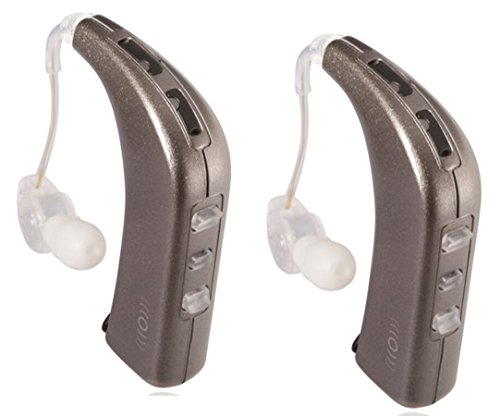 Sound World Solutions - Sidekick - Bluetooth Wireless Personal Sound Amplifier (Two Ear Bundle, White Gold Metallic)