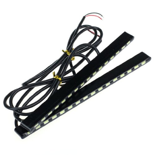 Aokdis Most Useful 2X 12V 16Led Car Drl Fog Strip Daytime Running Light Waterproof White