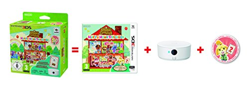 Animal Crossing: Happy Home Designer + 1 Tarjeta Amiibo + Lector/Escritor NFC + Pack 3 Tarjetas Amiibo