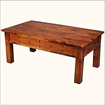 Portland Traditional Indian Rosewood Basket Weave Coffee Table