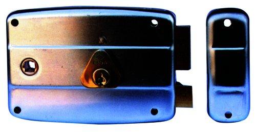 Cisa 50571 Serratura da Applicare, per Cancello, Entrata Sinistra, 8-60 mm