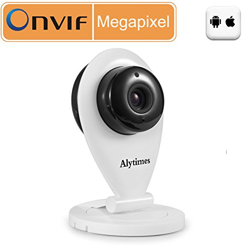 Alytimes Wireless IP Camera, IR Day/Night View, Built-in 128GB SD Card Slot, Motion Alerts, WiFi, Push Message Alert to SmartPhone, Free Apps for iOS iPhone, Android Smart phone, Two Way Audio, 720P H