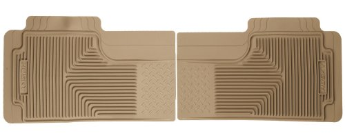 Husky Liners Custom Fit Heavy Duty Rubber Rear Floor Mat - Pack Of 2 (Tan)