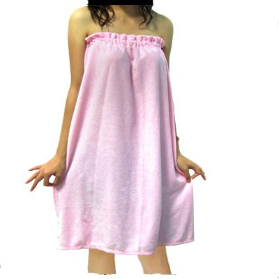 Pink Women's Terry SPA Body Wrap Towel Shower Bath Robe