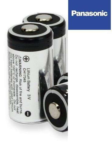 Panasonic CR123A / CR123 / CR17345 2 Pile 3V Lithium - 1400 mAh