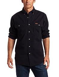 Carhartt Men\'s Oakman Sandstone Twill Original-Fit Work Shirt,Midnight,RegularX-Large