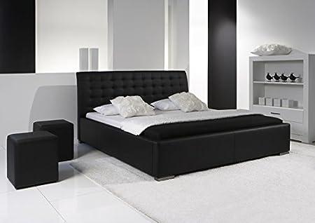 Polsterbett Doppelbett Bett 2621030000 schwarz Kunstleder 140x200cm
