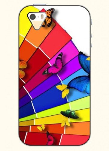 Oofit Phone Case Design With Colorful Butterflies For Apple Iphone 5 5S 5G
