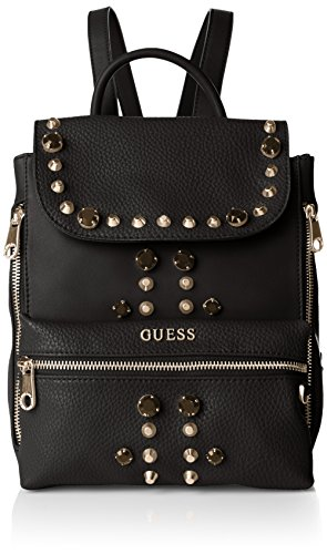 Guess Alanis Small Backpack Borsa a Tracolla, Donna, Nero (Black Multi)
