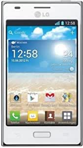 LG E610 Optimus L5 Smartphone (10,2 cm (4 Zoll) Touchscreen, 5 Megapixel Kamera, UMTS, WiFi, Android 4.0) weiß