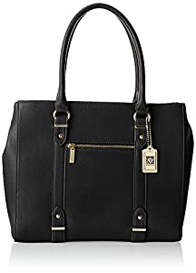 Anne Klein Military Luxe Tote,Black,One Size