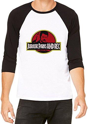 Jurassic Parks & Rec Baseball T-shirt Medium