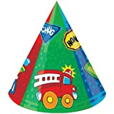 Truck Party Cone Hats Party 6ct