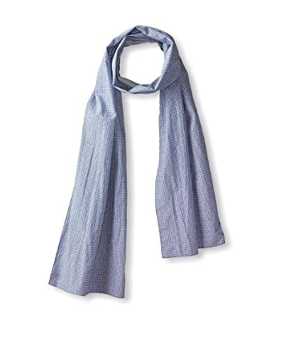 J.McLaughlin Men's Mini Circle Cotton Scarf, Blue/White