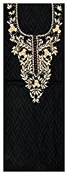Astha Boutique Women's Cotton Kurta Fabric (Black)