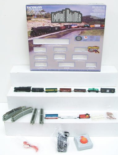 Bachmann Trains Empire Builder Ready - To - Run N Scale Train Set
