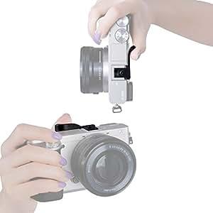 Neewer Thumbs Up Grip TU-100B for Micro DSLR Camera, such as Canon M, Fuji X-E1/X-Pro1, Panasonic GF2/GF1, Olympus E-PM2/ E-PM1/ E-PL5/ E-PL3/ E-PL2/ E-PL1/ E-P3/ E-PL2/ E-P1, Pentax Q/Pentax Q10, Samsung NX300/ NX210/ NX200/ NX100/ NX1000 -Black