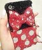 iPhone5 ケース カバー ブランド 立体デコ ディズニーキャラクター キラキラ デコ電 ビーズ ラインストーン  オリジナル 5-0105 アイフォン
