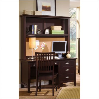 Buy Low Price Comfortable Vaughan-Bassett BB8-778 / BB8-779 / BB8-006 Twilight Merlot Hutch Computer Desk with Chair (B002R5FZOM)