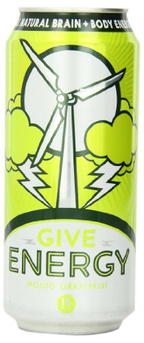 Give Energy Drink, Mojito Grapefruit, 16-Ounce Cans (Pack of 12)
