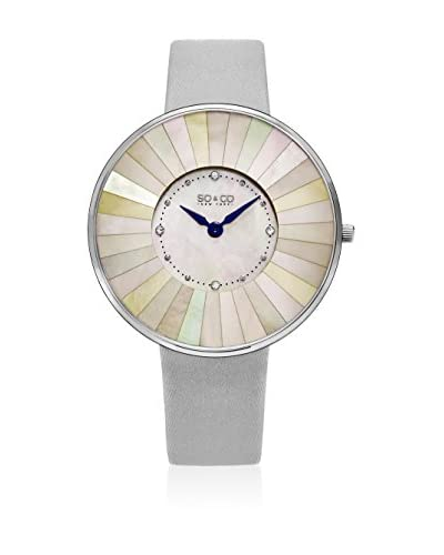 So&Co New York Reloj de cuarzo Woman Mosaic Mother Of Pearl Lined Dial Ultra Slim 38 mm