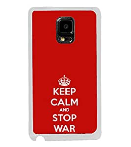 ifasho Nice Quote On Keep Calm Back Case Cover for Samsung Galaxy Note 4 Edge