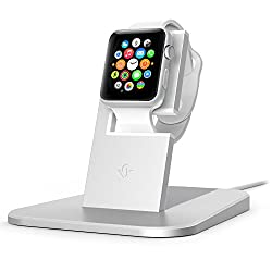 Twelve South HiRise for Apple Watch Stand, Silver | Charging stand for Apple Watch