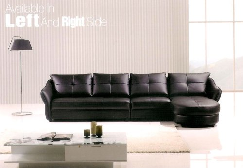3pc Modern Sectional Leather Sofa Set #AM-L376-BK