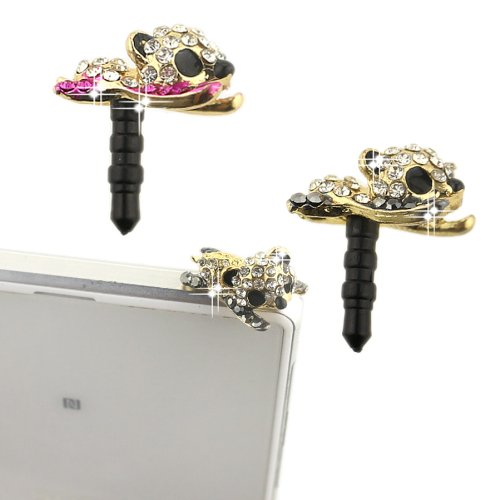 Ancerson Bling Shining Cute Crystal Diamond Rhinestone Universal Fashion 3.5Mm Anti Dust Earphone Jack Plug Stopper For Ipod Touch 2 3 4 5, Iphone 3 3G 3S 4 4S 5 5C 5S, Samsung Galaxy S4 I9500/ S4 Mini/ S5 I9600/ S3 I9300/ S2/ Grand 2/ Note 2 N7100/ Note