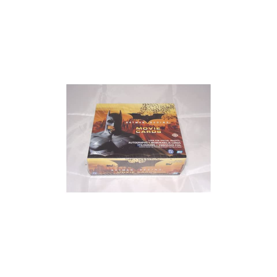 Batman Begins Factory Sealed Trading Card Hobby Box 24 Packs