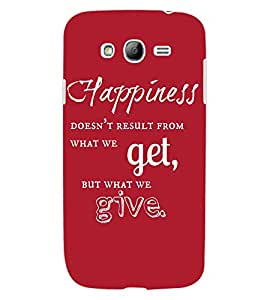 ColourCraft Quote Design Back Case Cover for SAMSUNG GALAXY GRAND Z I9082Z