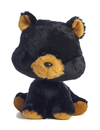 Aurora World Wobbly Bobblees/Black Bear Plush