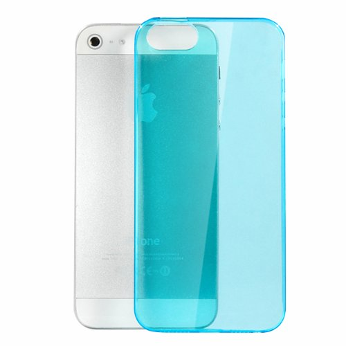 Moon Monkey Ultra-Thin Slim Transparent Skid Resistance Protective Cover Case For Iphone 5 5S (Mm369) (Blue)