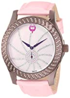 Brillier Women's 03-72327-12 Kalypso Plum-Plated Pink Leather Watch from Brillier