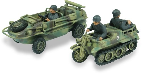 Lindberg 1:72 scale Schwimmwagen Amphibious Jeep and Kettenkrad 1:2 track motorcycle