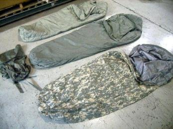 Genuine U.S. Military Goretex 5-Piece Improved Modular Sleeping Bag System