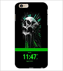 PrintDhaba Skull D-4053 Back Case Cover for APPLE IPHONE 6 (Multi-Coloured)