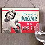 Its Not a Hangover It's Wine Flu Wall Plaque Novelty Gift For Her