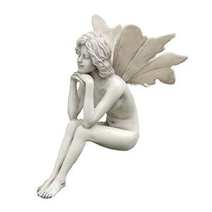Design toscano pd1546 the secret garden fairies pondering fairy statue outdoor - Fairy statues for sale ...