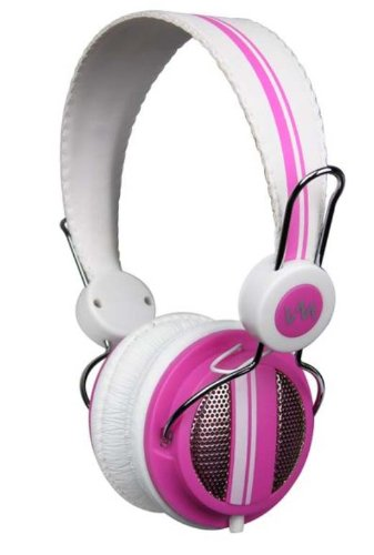 New Vm Audio Srhp5 Stereo Mp3/Iphone Ipod On Ear Dj Headphones Monitor - Pink